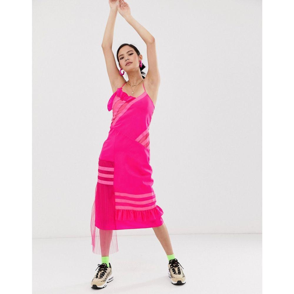 ハウス オブ ホーランド House of Holland レディース ワンピース スリップドレス ワンピース・ドレス【ripstock slip dress】Fuchsia