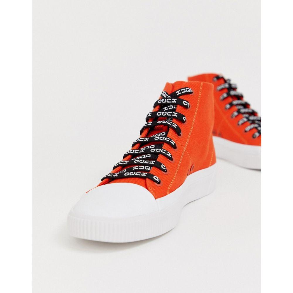 ヒューゴ ボス HUGO メンズ スニーカー シューズ・靴【Zero high top logo lace trainers in orange】Orange