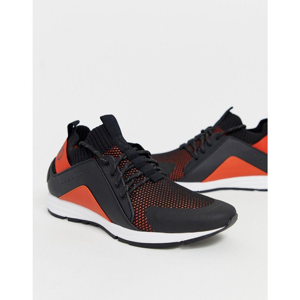 ヒューゴ ボス HUGO メンズ スニーカー シューズ・靴【Hybrid mesh trainers in black and orange】Black
