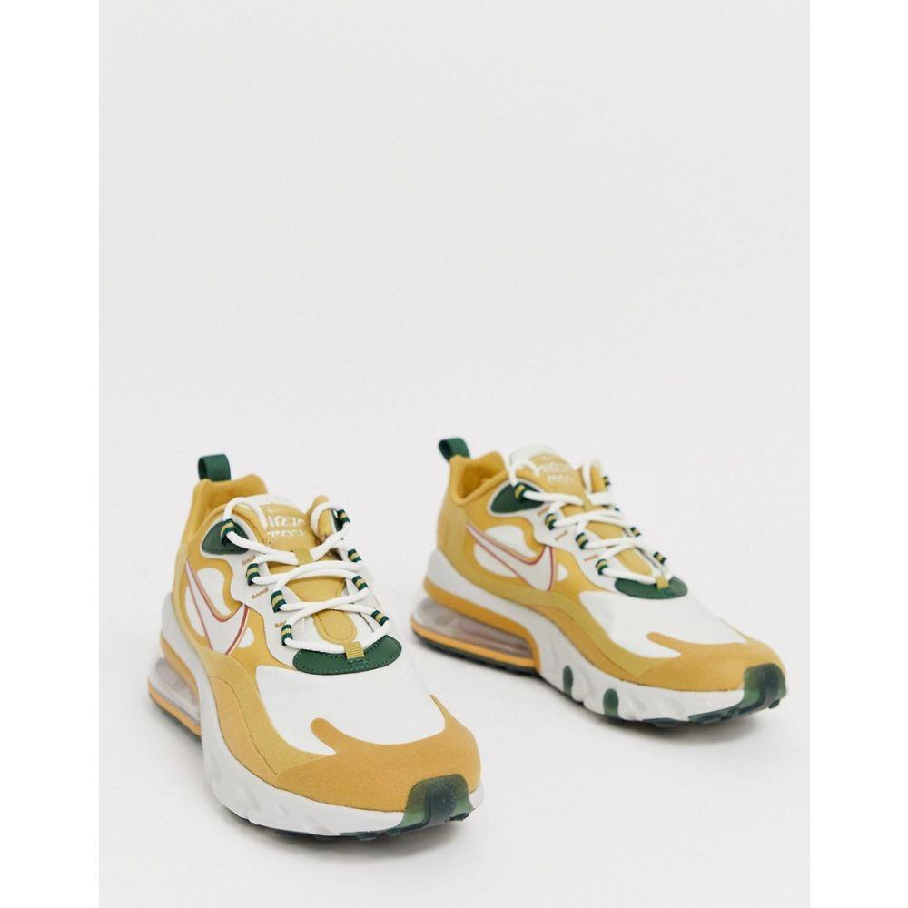 ナイキ Nike メンズ スニーカー エアマックス 270 シューズ・靴【Air Max 270 React trainers in gold AO4971-700】Gold