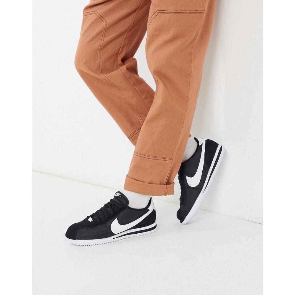 ナイキ Nike メンズ スニーカー シューズ・靴【Classic Cortez nylon trainers in black 819720-011】Black