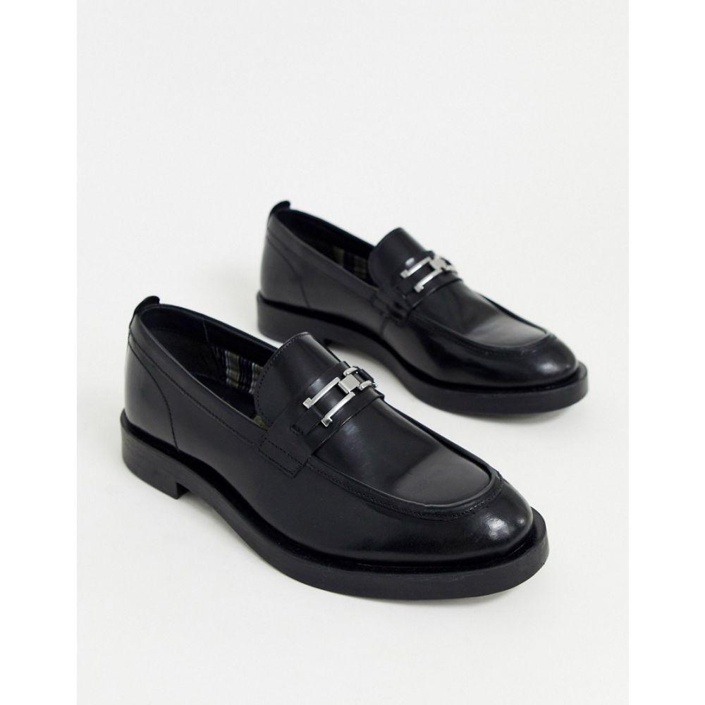 ベース ロンドン Base London メンズ ローファー シューズ・靴【Dreamer buckle loafer in black hi shine】Black