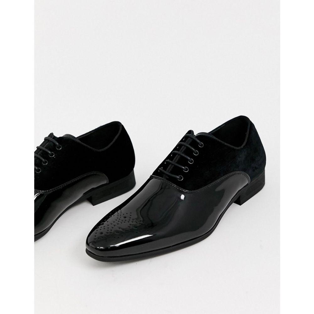 リバーアイランド River Island メンズ 革靴・ビジネスシューズ ダービーシューズ シューズ・靴【patent derby in black】Black