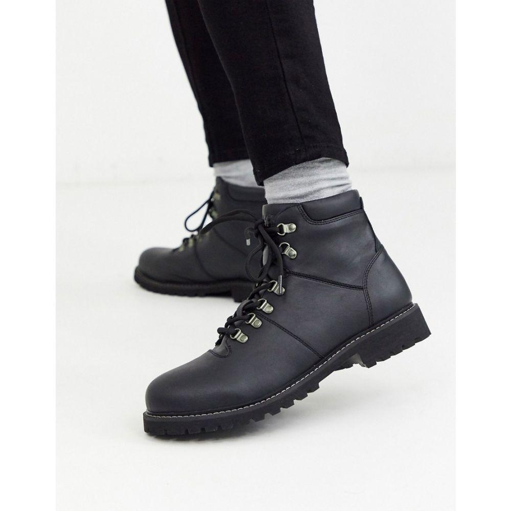 ジャック アンド ジョーンズ Jack & Jones メンズ ハイキング・登山 シューズ・靴【faux leather hiking boot】Anthracite