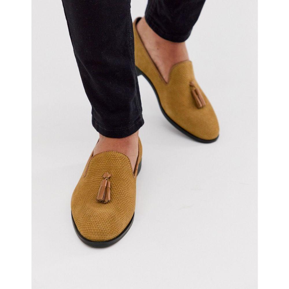 ハウスオブハウンズ House of Hounds メンズ ローファー シューズ・靴【pointer loafers in tan embossed suede】Tan
