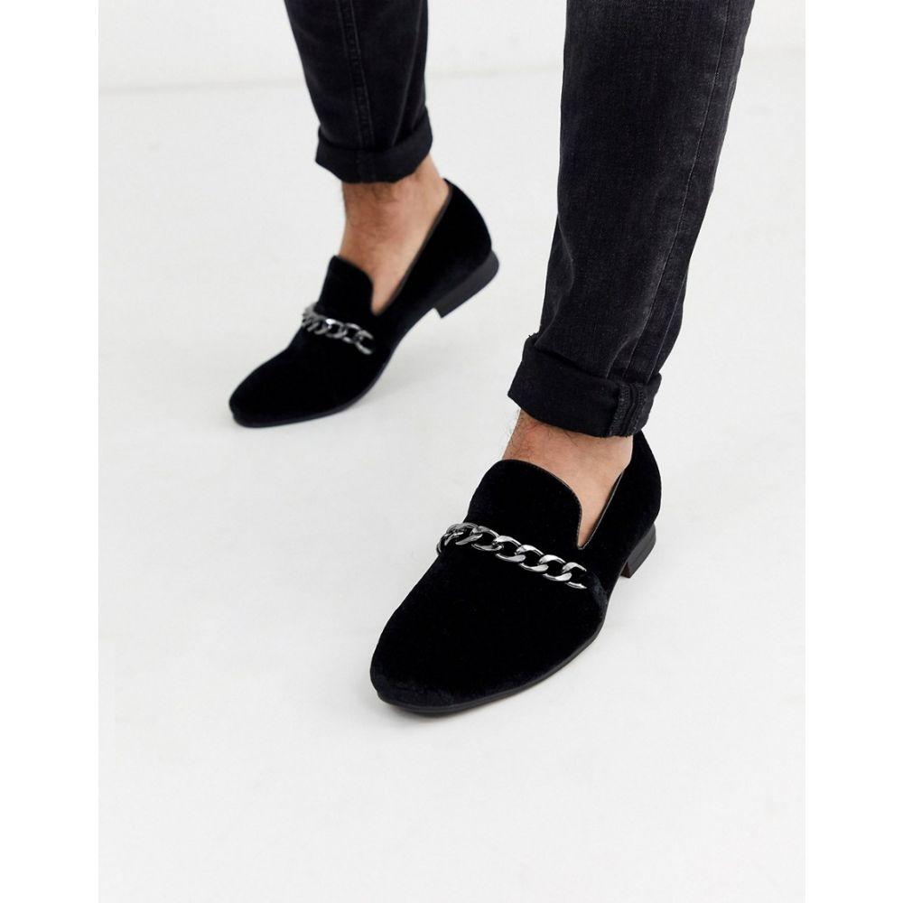 トリュフコレクション Truffle Collection メンズ ローファー シューズ・靴【chain loafer in black】Black