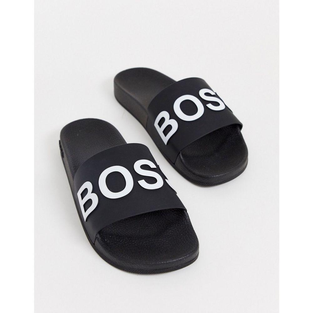 ヒューゴ ボス BOSS メンズ サンダル シューズ・靴【Bay sliders in black】Black