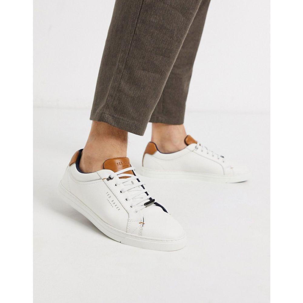 テッドベーカー Ted Baker メンズ スニーカー シューズ・靴【Thwally trainers in white leather】White