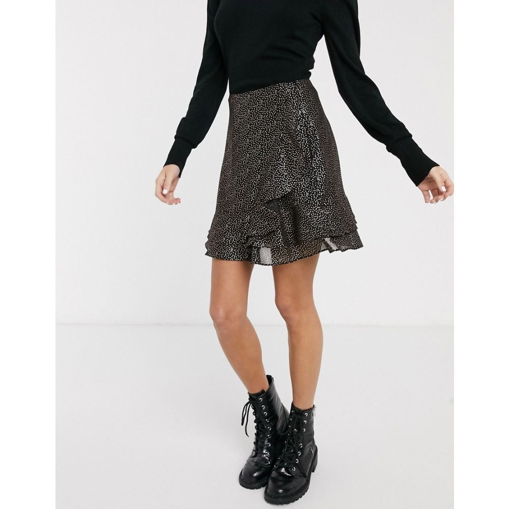 オアシス Oasis レディース ミニスカート スカート【skirt with metallic spot detail in black】Multi black