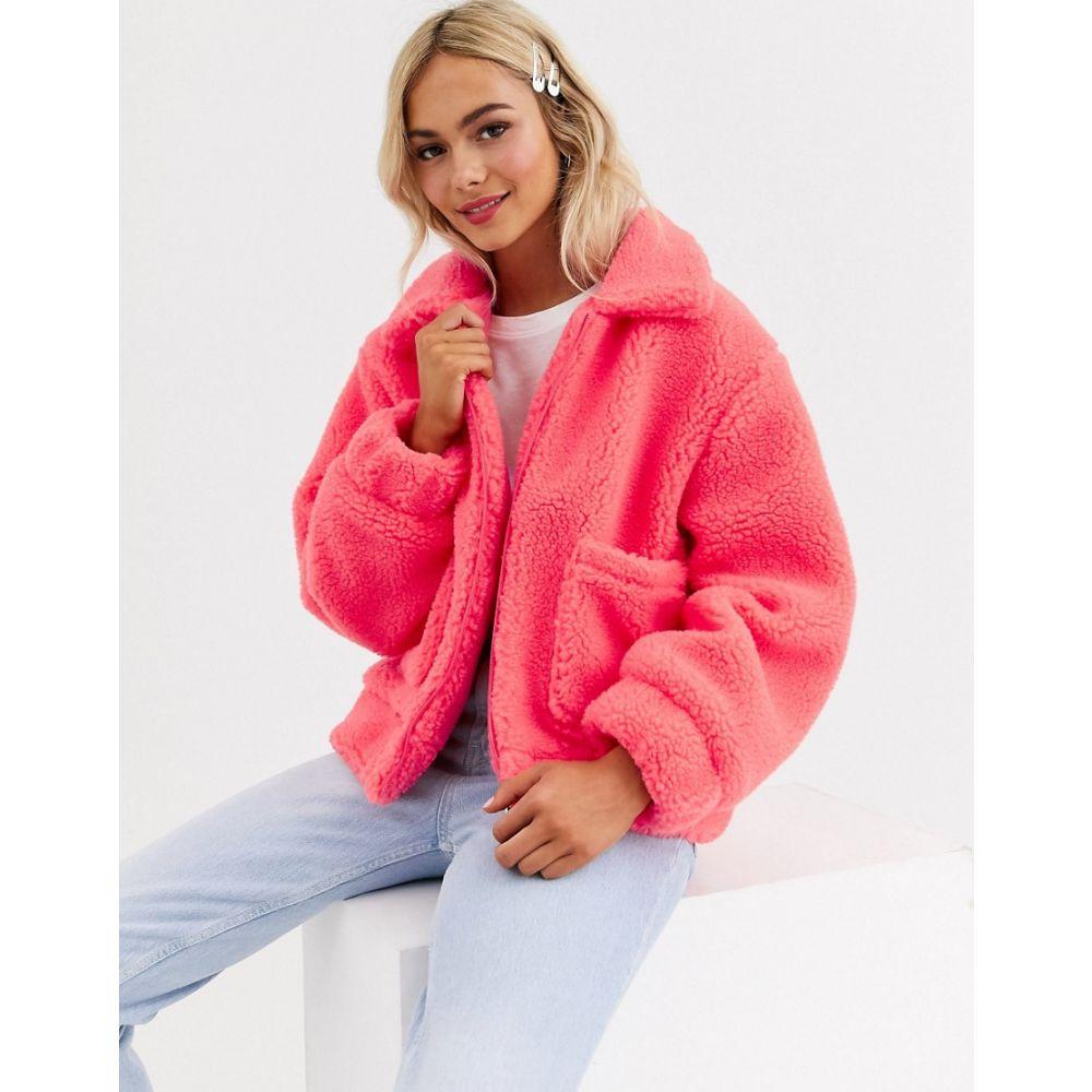 ブレイブソウル Brave Soul レディース ジャケット アウター【tallie jacket in bright borg】Coral