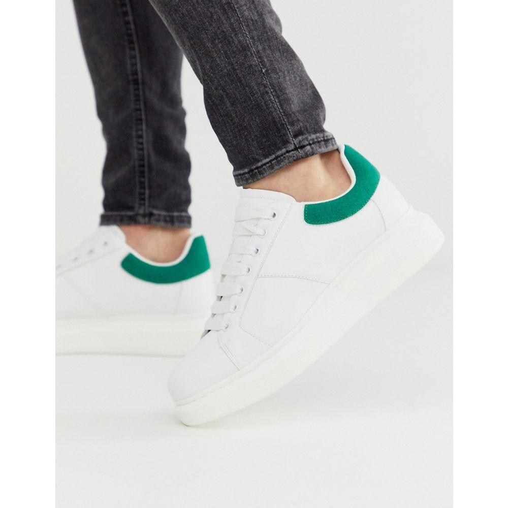ロイヤリティ&フェイス Loyalty & Faith メンズ スニーカー チャンキーヒール シューズ・靴【chunky trainer in white and green】White