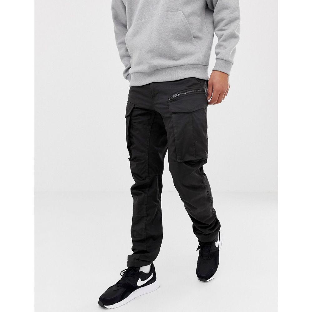 ジースター ロゥ G-Star メンズ カーゴパンツ テーパードパンツ ボトムス・パンツ【Rovic tapered fit zip cargo pants 3D in black】Raven