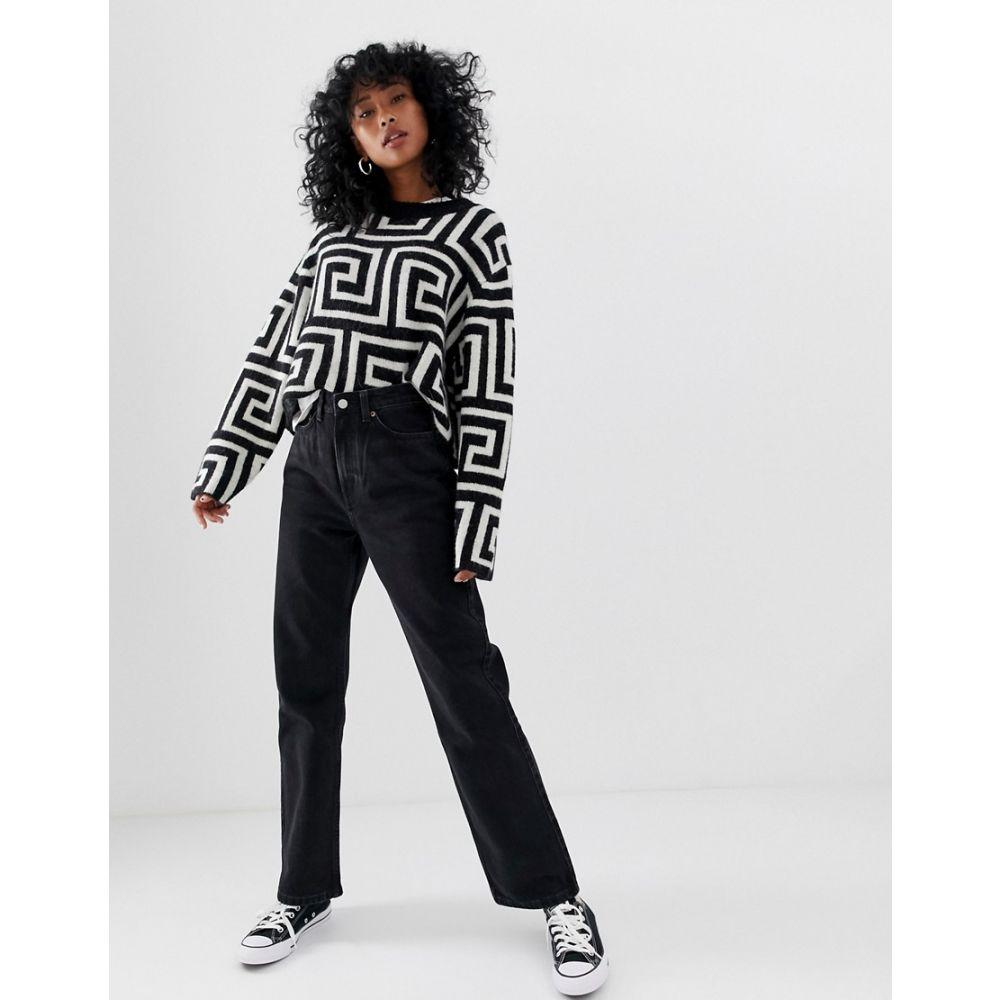 ウィークデイ Weekday レディース ジーンズ・デニム ボトムス・パンツ【Row slim straight leg jeans with organic cotton in washed black】Echo black