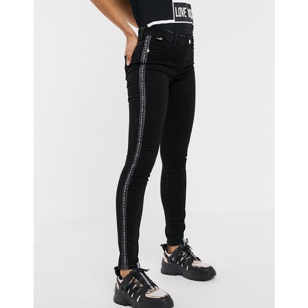 モスキーノ Love Moschino レディース ジーンズ・デニム ボトムス・パンツ【back logo skinny jeans】w black denim