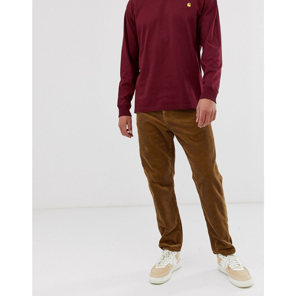 カーハート Carhartt WIP メンズ ボトムス・パンツ 【Newel corduroy pant relaxed tapered fit in hamilton brown】Hamilton brown