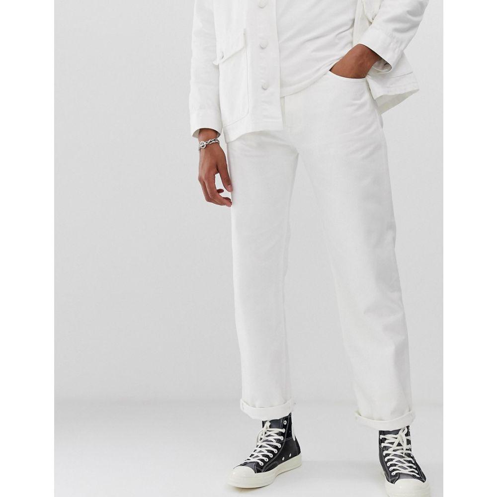 M.C. オーバーオールズ メンズ ボトムス・パンツ オーバーオール White 【サイズ交換無料】 M.C. オーバーオールズ M.C. Overalls メンズ オーバーオール ボトムス・パンツ【M.C.Overalls 5 pocket regular denim jeans in white】White