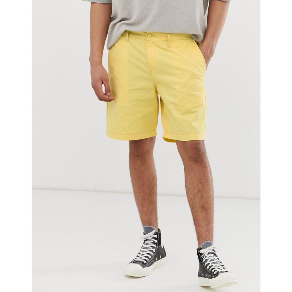 M.C. オーバーオールズ M.C. Overalls メンズ オーバーオール ボトムス・パンツ【M.C.Overalls Polycotton work shorts in yellow】Sherbet yellow