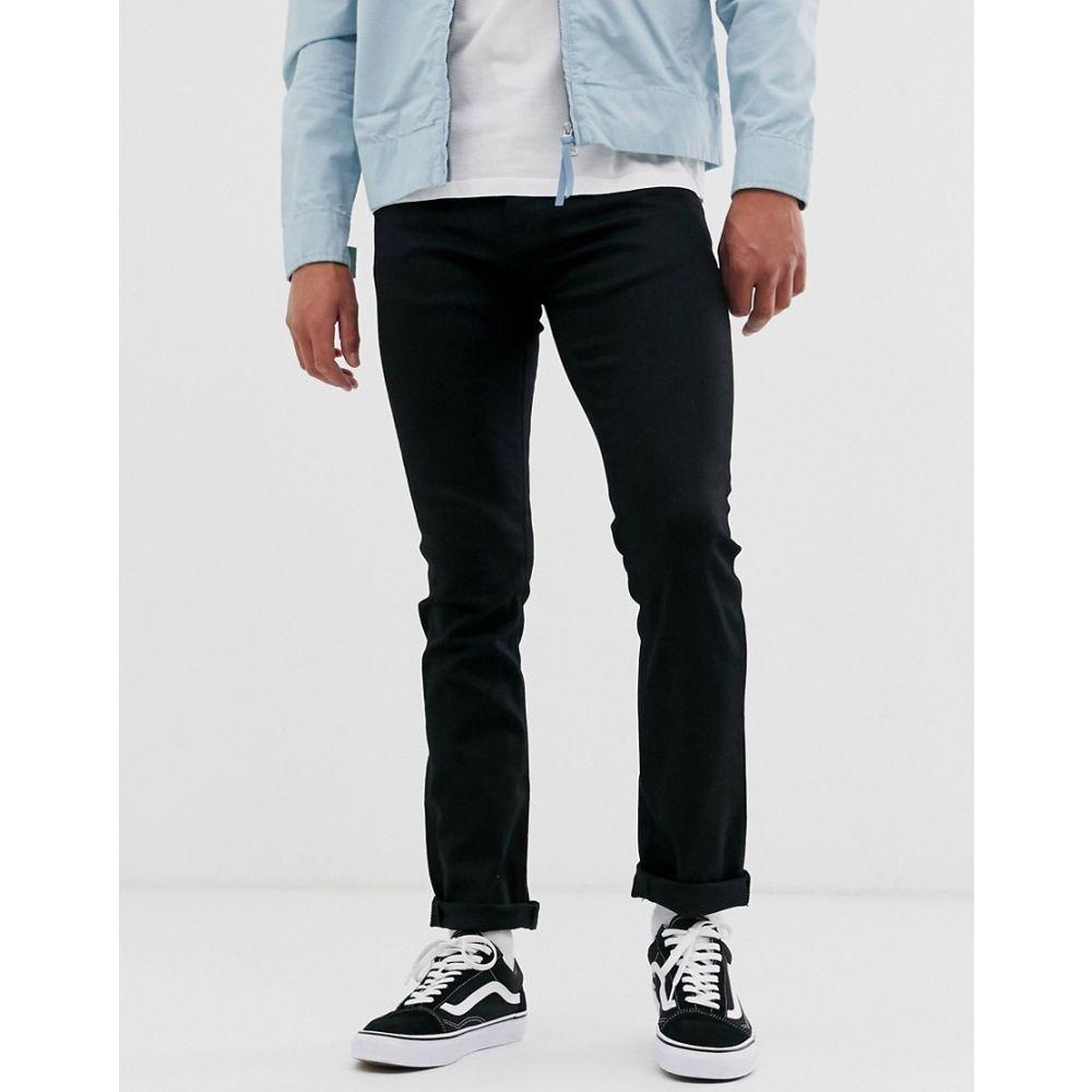 ヌーディージーンズ Nudie Jeans メンズ ジーンズ・デニム ボトムス・パンツ【Co Grim Tim slim straight fit jeans in dry ever black wash】Black