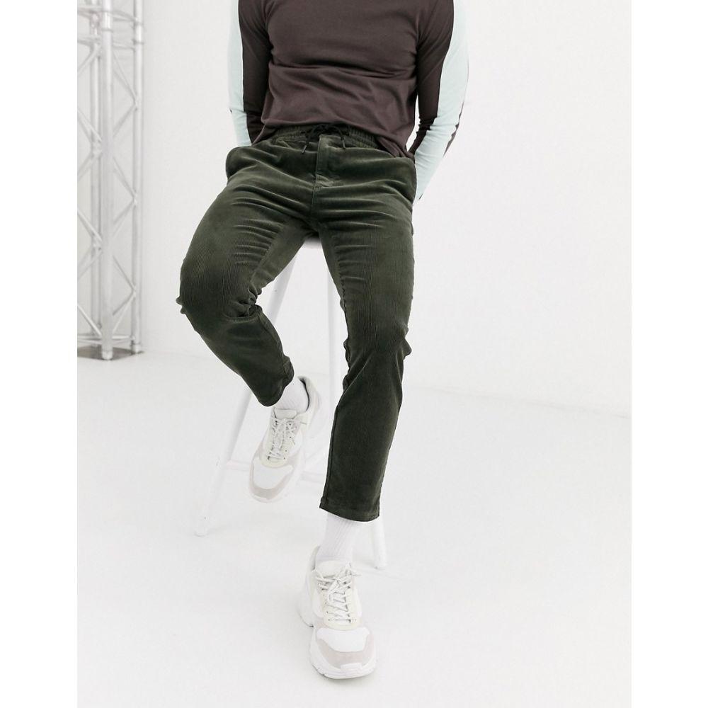 トップマン Topman メンズ ジョガーパンツ ボトムス・パンツ【cord joggers in khaki】Khaki