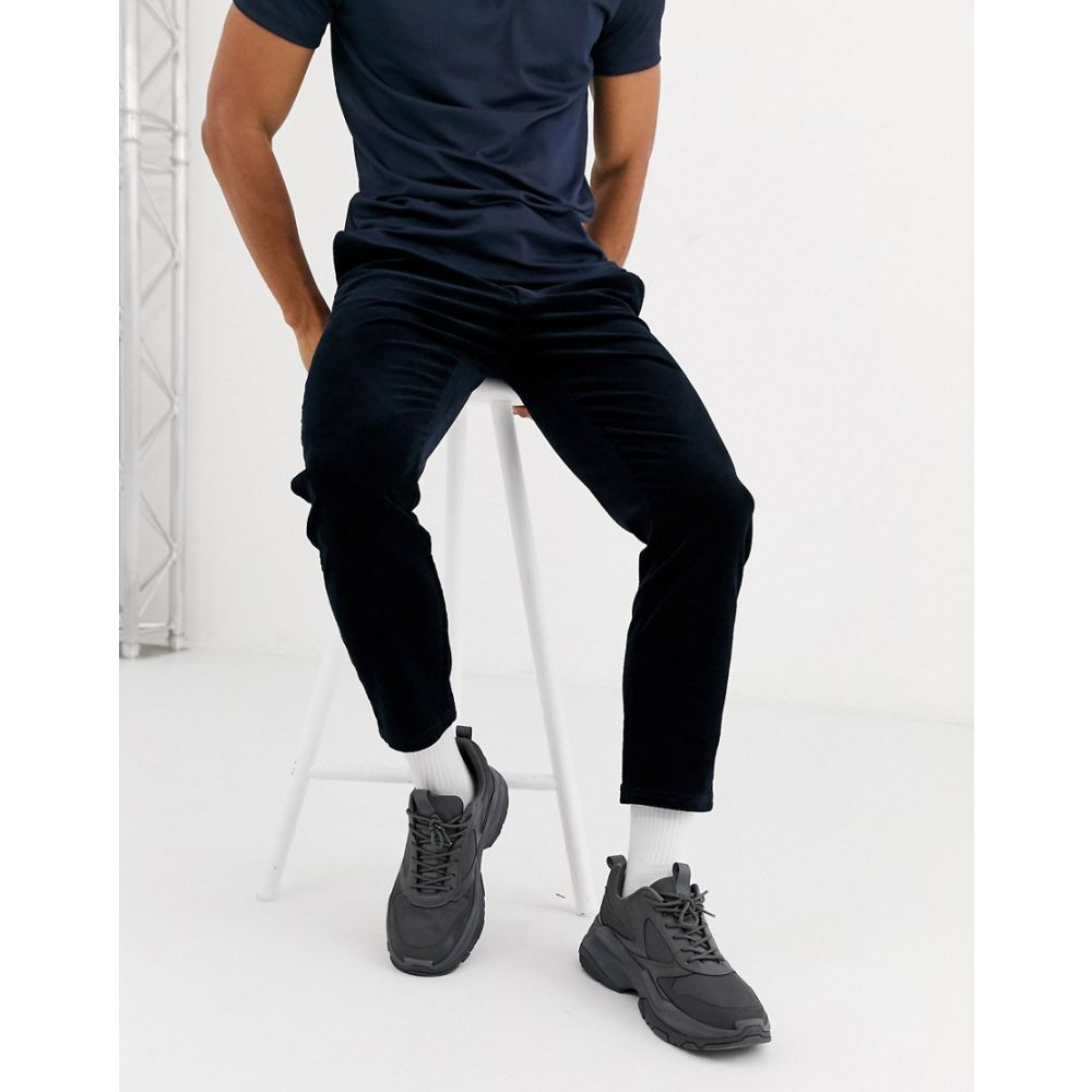 トップマン Topman メンズ ジョガーパンツ ボトムス・パンツ【cord joggers in navy】Navy