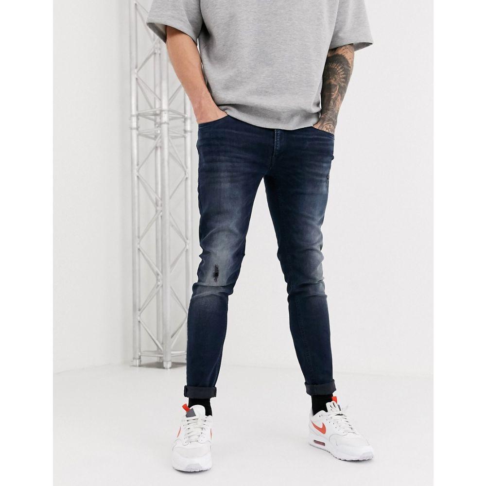 ジャック アンド ジョーンズ Jack & Jones メンズ ジーンズ・デニム ボトムス・パンツ【Intelligence Liam skinny jeans in blue】Blue