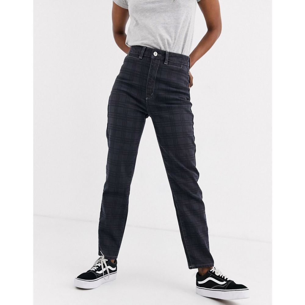 エーブランド Abrand Denim レディース ジーンズ・デニム ボトムス・パンツ【Abrand '94 high slim jeans in check】Black check it