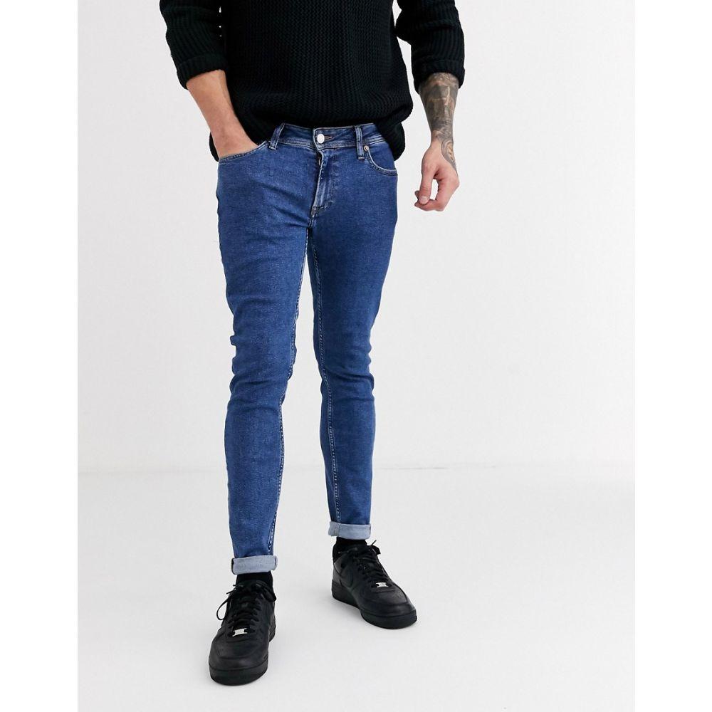 ジャック アンド ジョーンズ Jack & Jones メンズ ジーンズ・デニム ボトムス・パンツ【skinny fit stonewash jeans in light blue】Stonewash blue denim