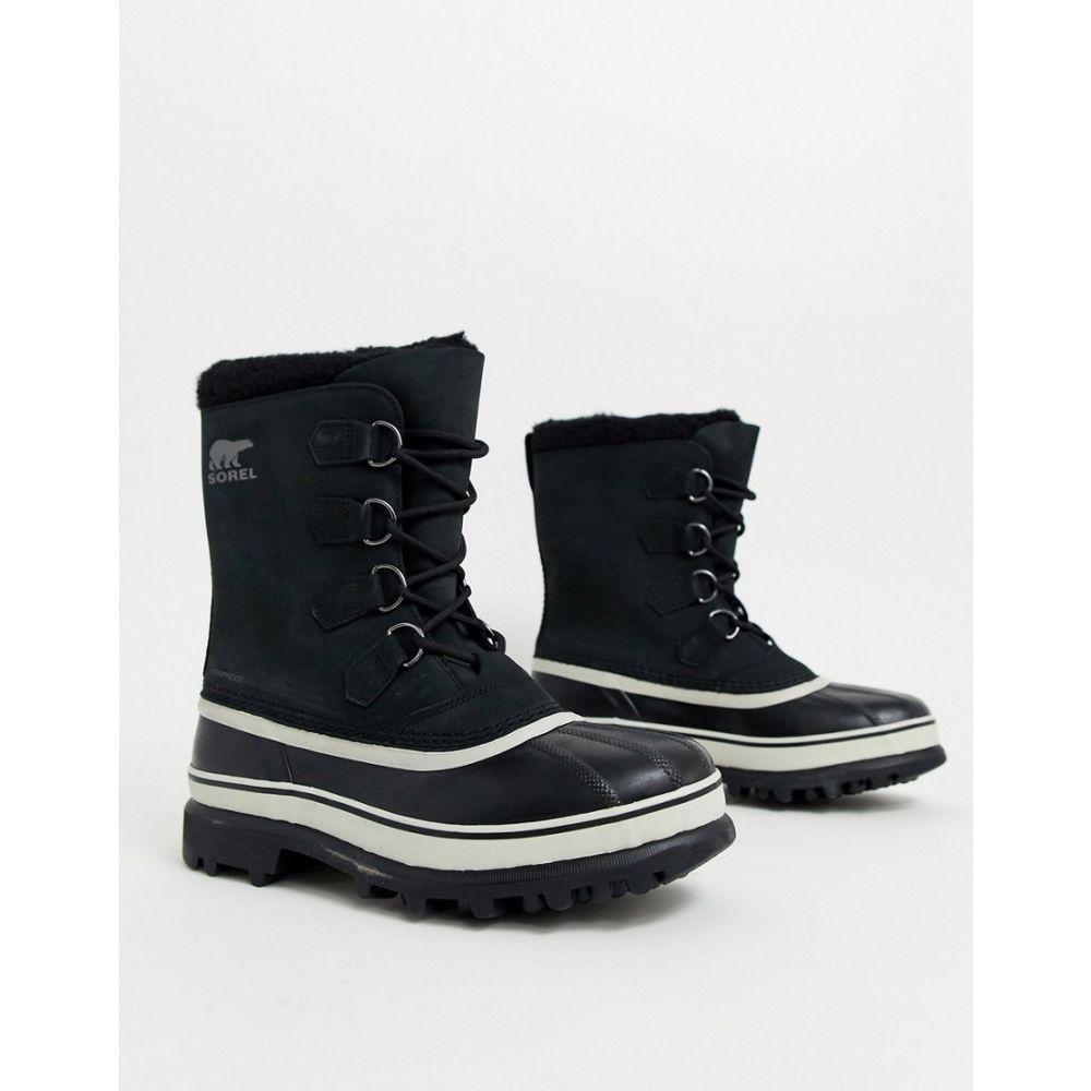 ソレル Sorel メンズ ブーツ シューズ・靴【SOREL Caribou snow boot in black】Black