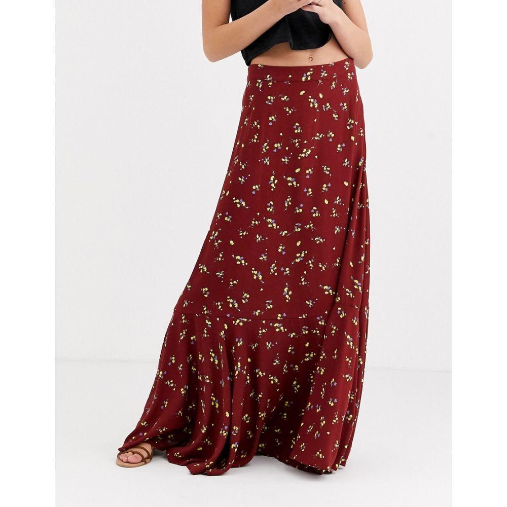 フリーピープル Free People レディース ロング・マキシ丈スカート スカート【ruby's forever floral maxi skirt】Brown