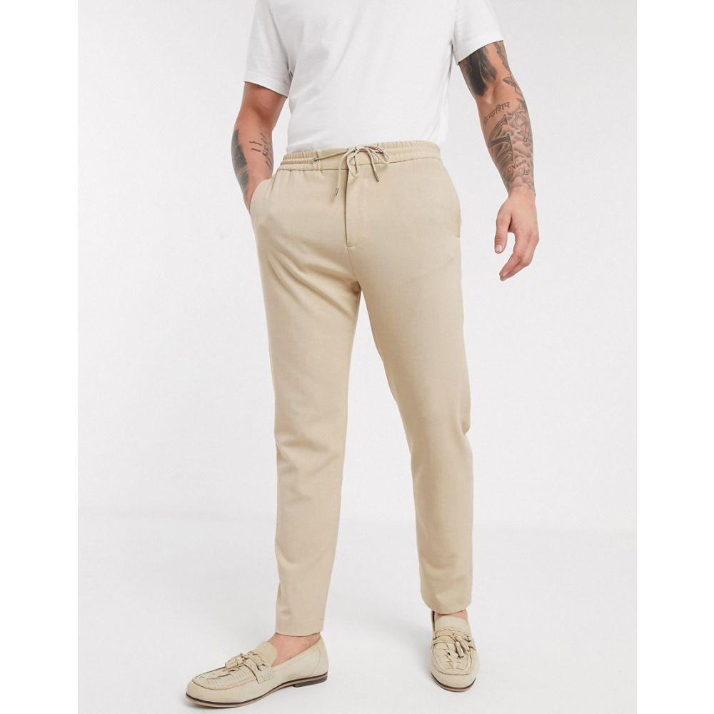 ロックストック Lockstock メンズ ボトムス・パンツ 【Tribeca cuffed drawstring trouser in stone】Beige