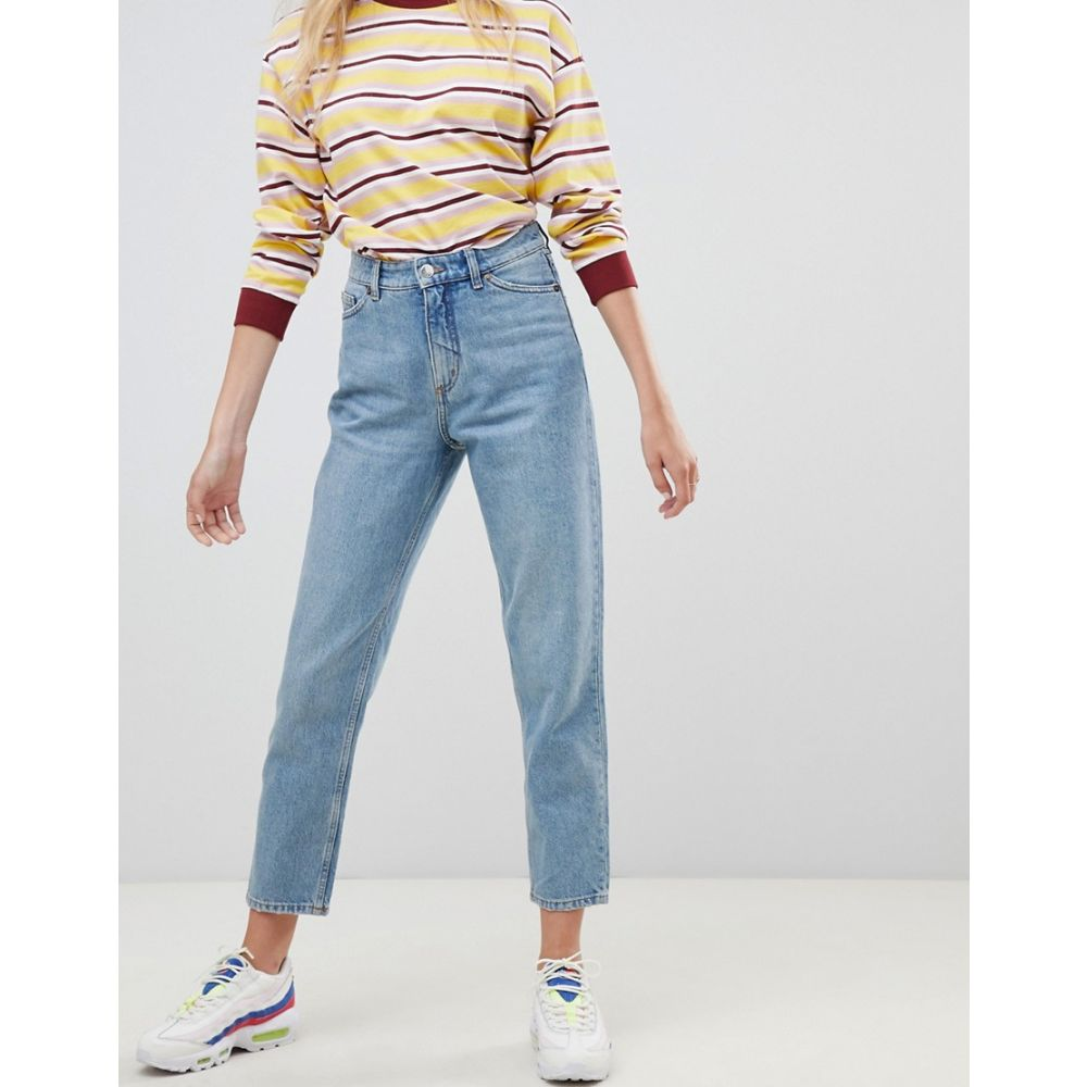 モンキー Monki レディース ジーンズ・デニム ボトムス・パンツ【Taiki high waist mom jeans with organic cotton in light blue】Light blue