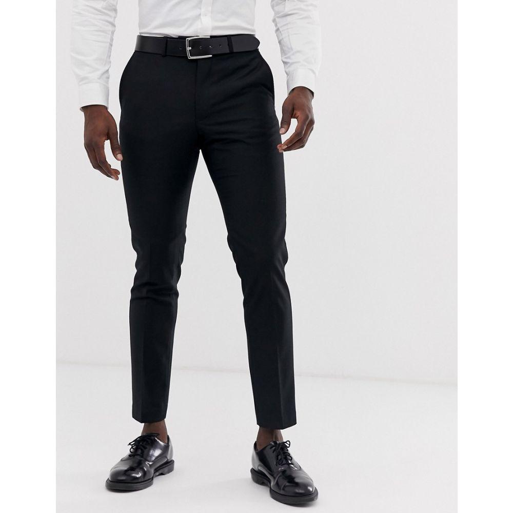 フレンチコネクション French Connection メンズ スラックス ボトムス・パンツ【slim fit plain suit trousers】Black