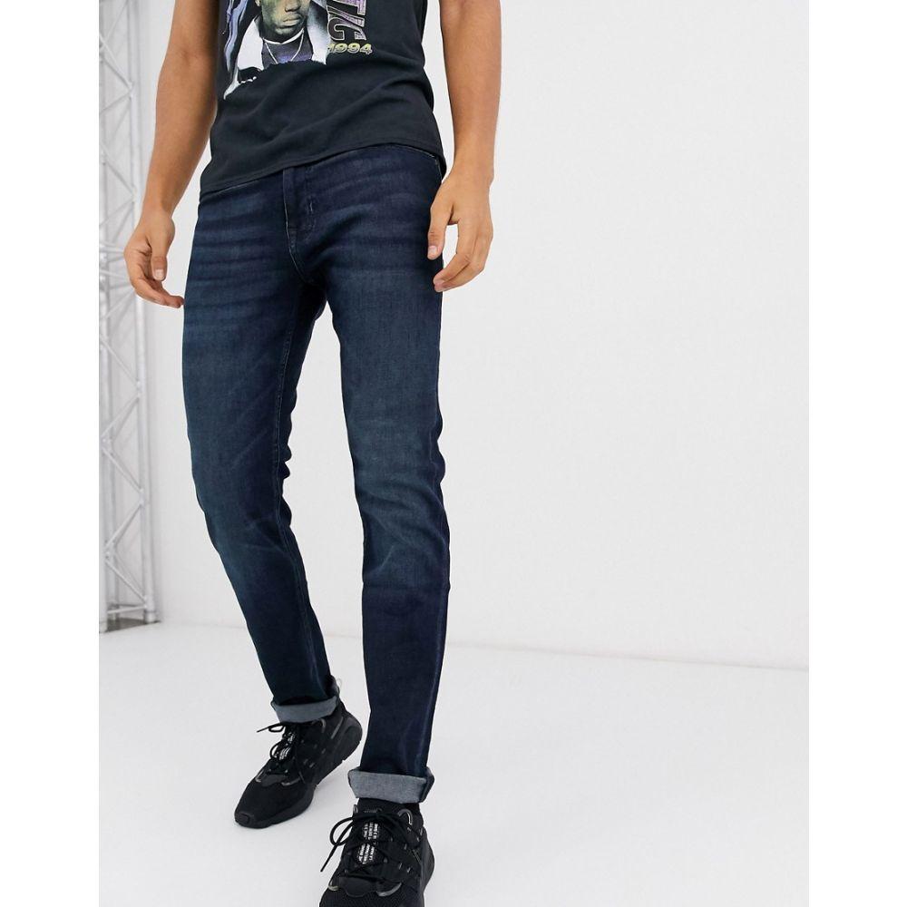 ヒューゴ ボス BOSS メンズ ジーンズ・デニム ボトムス・パンツ【Delaware slim fit jeans in dark wash blue】Blue