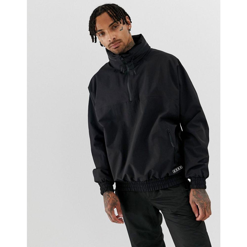 エイソス ASOS 4505 メンズ スキー・スノーボード フード ジャケット アウター【ski overhead hooded jacket】Black