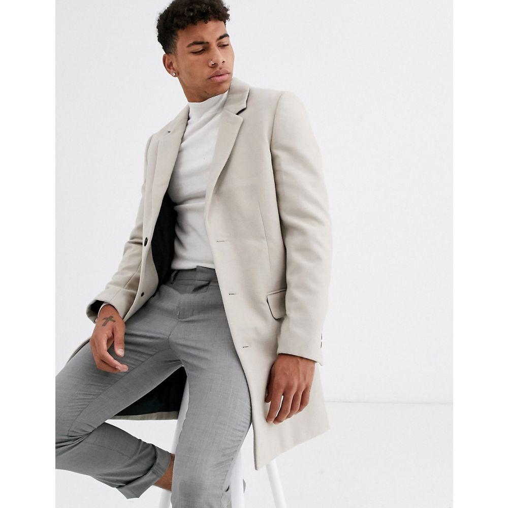 ニュールック New Look メンズ コート アウター【overcoat in mink】Oatmeal