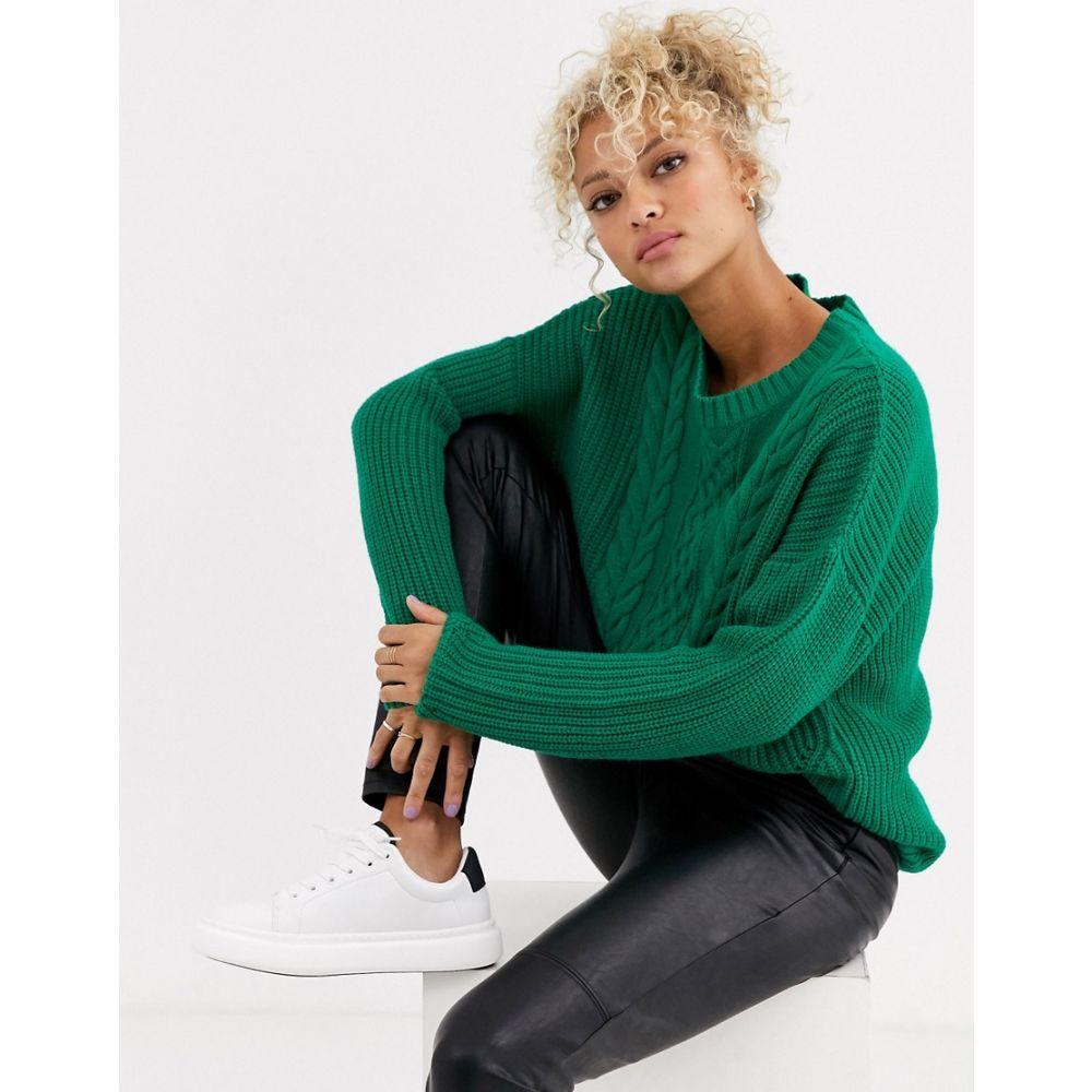 ブレンド シー Blend She レディース ニット・セーター トップス【Summi cable knit jumper】Ultramarine green