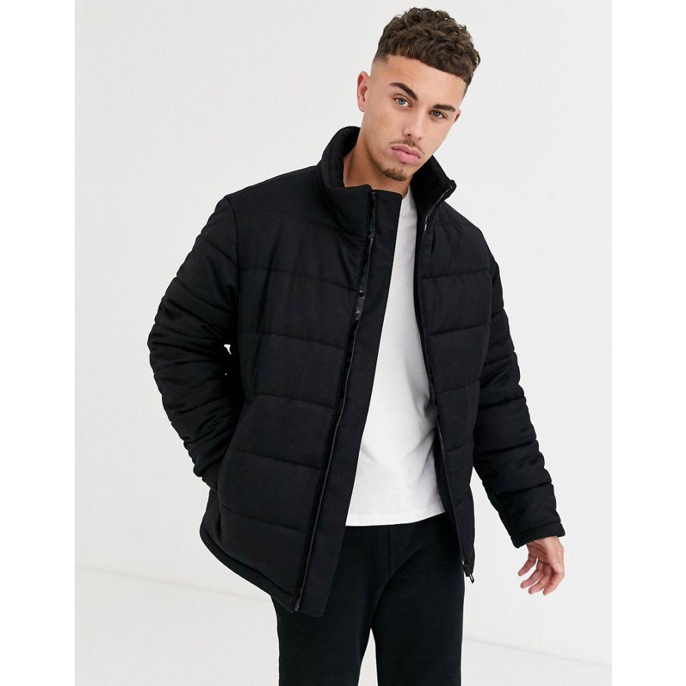 ヒューゴ ボス HUGO メンズ ダウン・中綿ジャケット アウター【Biron wool mix puffer jacket in black】Black
