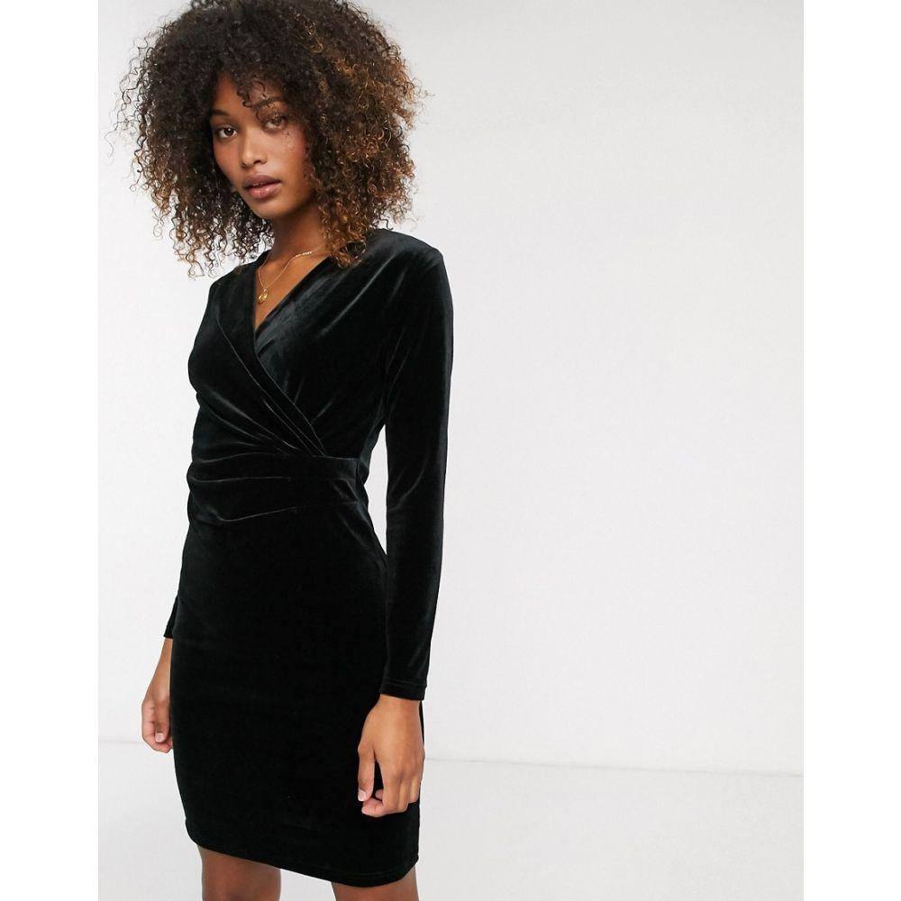 ビーヤング b.Young レディース ワンピース ワンピース・ドレス【velvet knot front dress】Black