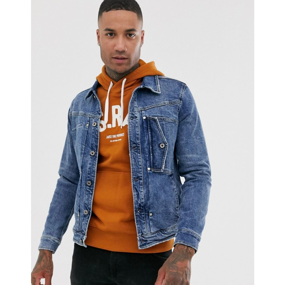ジースター ロゥ G-Star メンズ ジャケット Gジャン アウター【Scutar slim fit denim jacket in blue】Blue