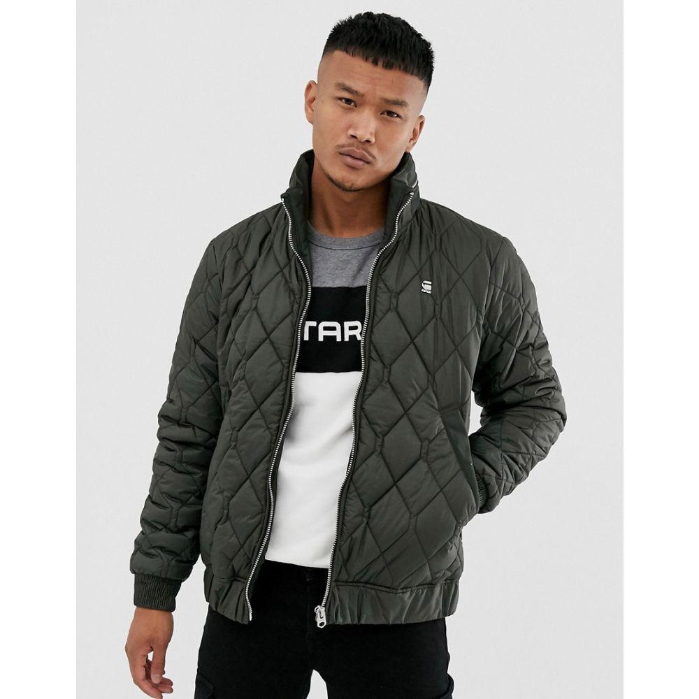 ジースター ロゥ G-Star メンズ ジャケット アウター【Meefic quilted jacket with zip detail collar in grey】Grey