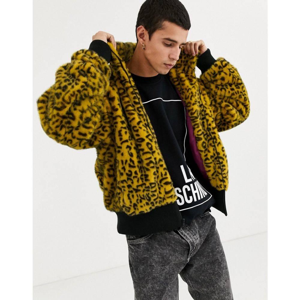 リクレイム ヴィンテージ Reclaimed Vintage メンズ ブルゾン ミリタリージャケット アウター【animal faux fur bomber jacket】Yellow