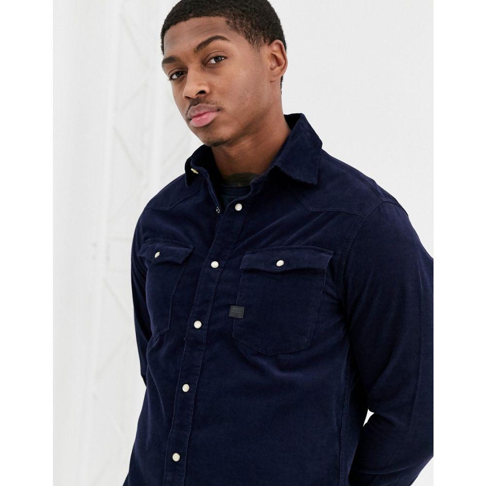 ジースター ロゥ G-Star メンズ シャツ トップス【3301 slim fit cord shirt in blue】Blue