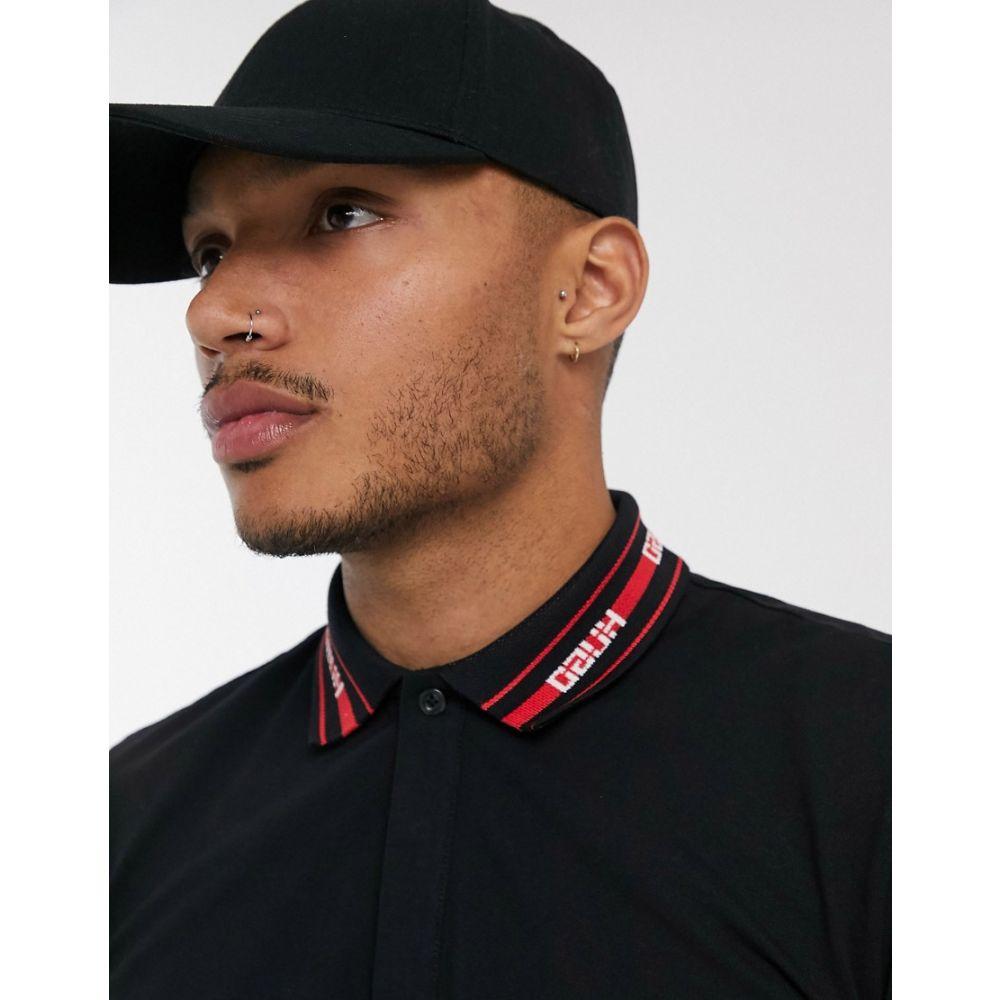 ヒューゴ ボス HUGO メンズ ポロシャツ トップス【Dewayne collar logo polo in black】Black