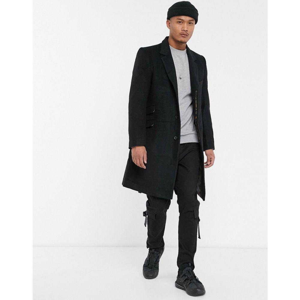 ボロンガロトレバー Bolongaro Trevor メンズ コート アウター【pea coat】Black