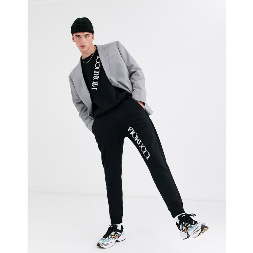 フィオルッチ Fiorucci メンズ スウェット・トレーナー トップス【sweatshirt in black with logo】Black