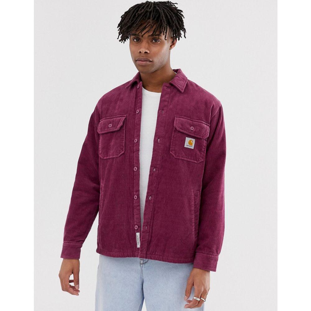 カーハート Carhartt WIP メンズ ジャケット シャツジャケット アウター【Whitsome corduroy shirt jacket in fuchsia】Dusty fuchsia