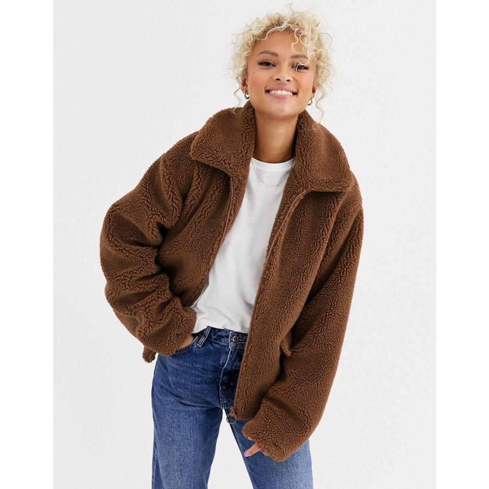 ブレンド シー Blend She レディース ジャケット アウター【Teddy's zip thru faux fur jacket】Dachshund