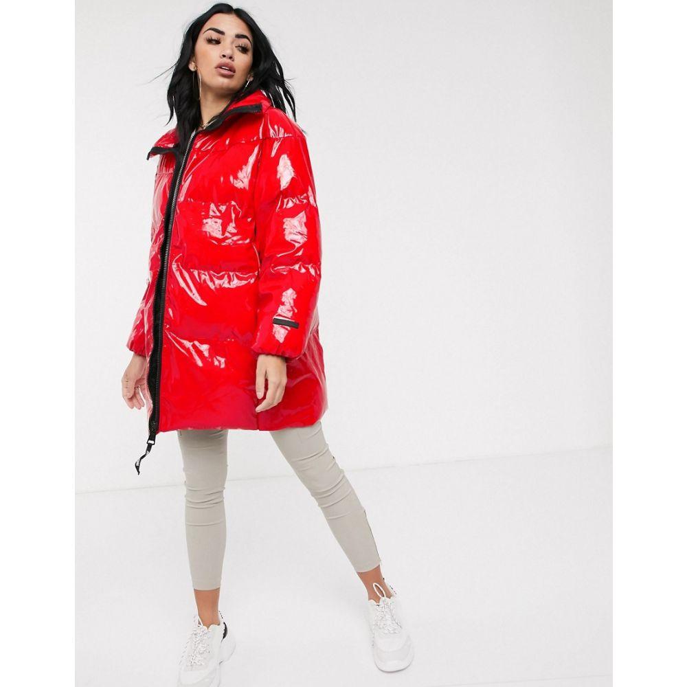 ジューシークチュール Juicy Couture レディース ダウン・中綿ジャケット アウター【oversized red padded jacket】Red