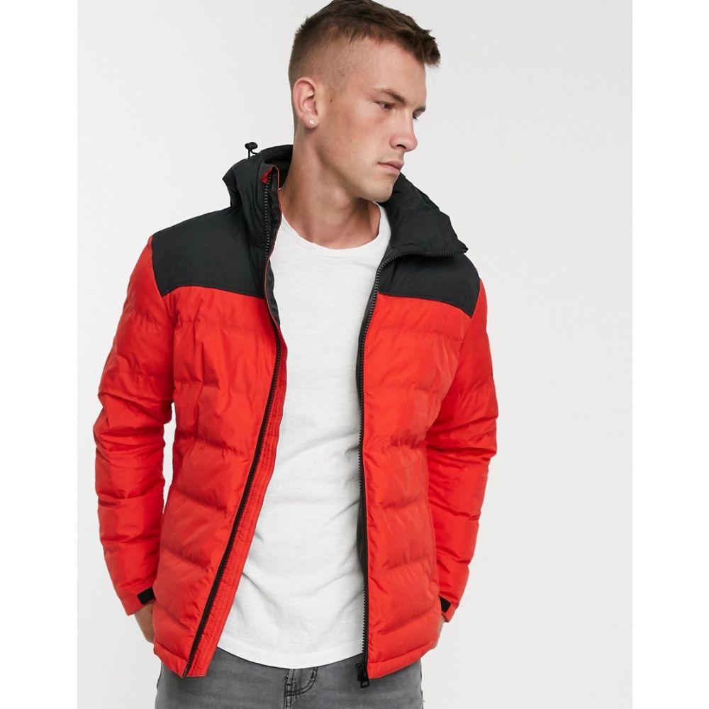 ファットムース Fat Moose メンズ ダウン・中綿ジャケット アウター【colour block padded jacket】Red