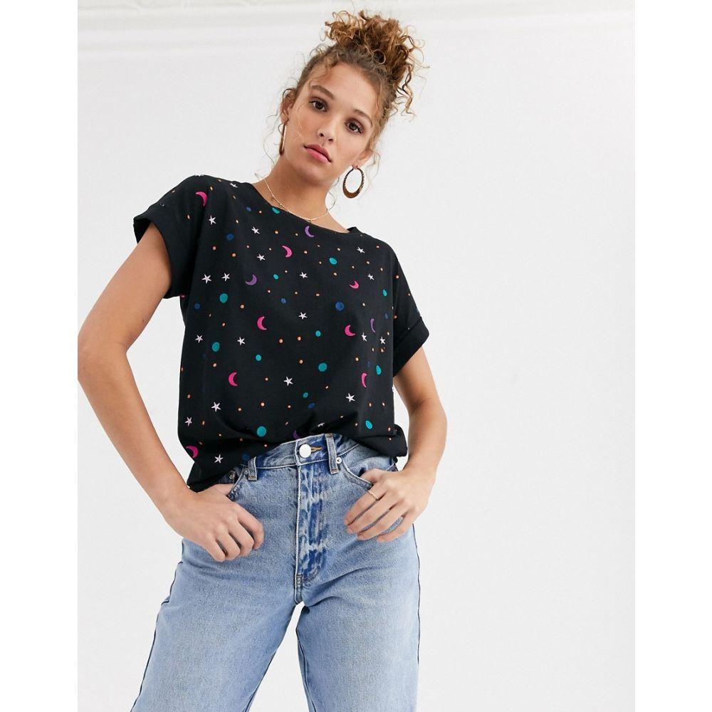 ファビエンヌ シャポット Fabienne Chapot レディース Tシャツ トップス【Duckie stars & moons t-shirt】Moon star embro